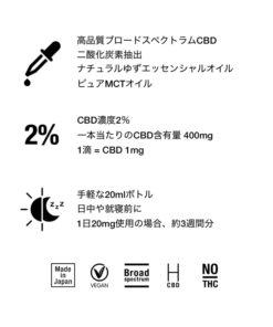 CBD オイル 2%