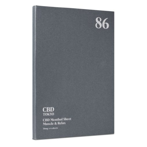 CBD patch muscle sheet CBDTokyo 89 front