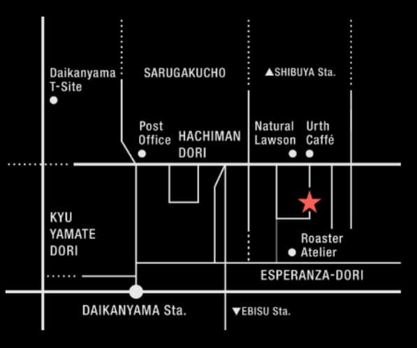 HealthyTOKYO CBD Shop Cafe Daikanayama map