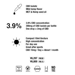 CBDTokyo 3.9 CBD Isolate Oil