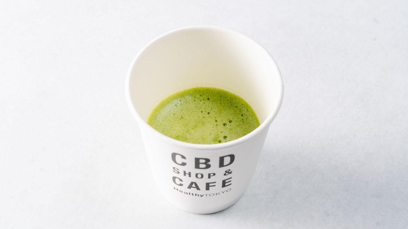 cbd matcha drink by HealthyTOKYO in Daikanyama